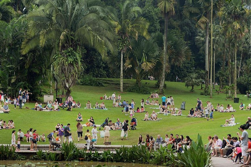 More than 100 submissions from the public have been received in Singapore's bid to put the 154-year-old Singapore Botanic Gardens (above) on the Unesco World Heritage Site list. -- ST PHOTO:DESMOND WEE