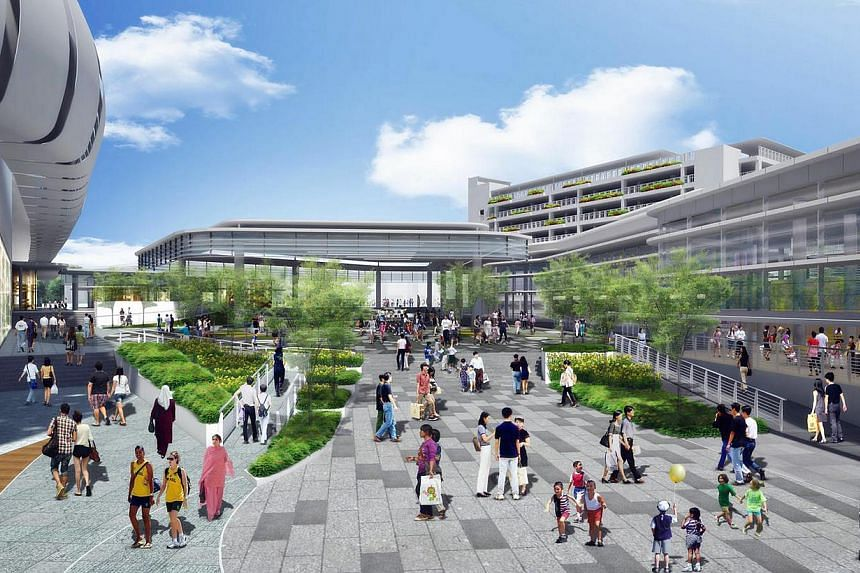An artist's impression of the HDB Bedok Town Plaza. -- PHOTO: URBAN REDEVELOPMENT AUTHORITY