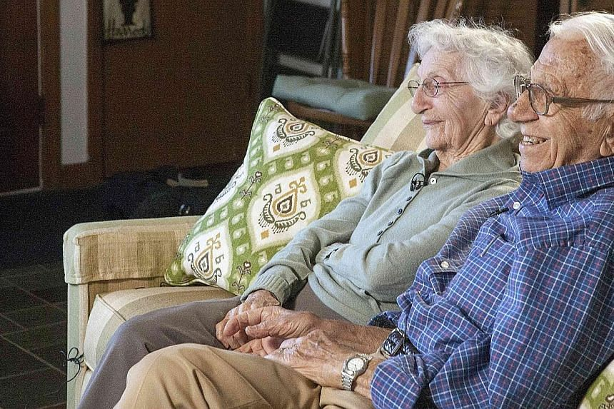 John Betar, 102, and his wife Ann, 98, are seen at their home in Fairfield, Connecticut, on Nov 20, 2013.-- PHOTO: REUTERS