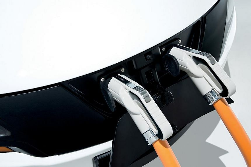 The charging port of Singapore's first electric taxi prototype,unveiled on Thursdayat the biennial Tokyo Motor Show in Japan.. -- PHOTO: TUM-CREATE