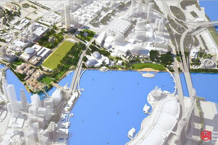 Artist impression of an aerial view of the Civic and Cultural District by the Bay. Singaporeans will soon be able to enjoy bigger and livelier public spaces, as part of the Government's bid to create a liveable and community-oriented nation. --