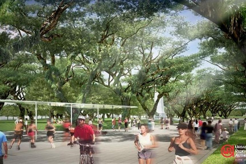 Artist impression of a walkable district: pedestrians can walk safely along Connaught Drive. Singaporeans will soon be able to enjoy bigger and livelier public spaces, as part of the Government's bid to create a liveable and community-oriented nation