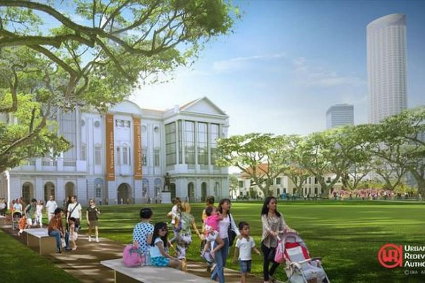 Artist impression of the spaces for people and events: visitors can enjoy shared open spaces. Singaporeans will soon be able to enjoy bigger and livelier public spaces, as part of the Government's bid to create a liveable and community-oriented natio