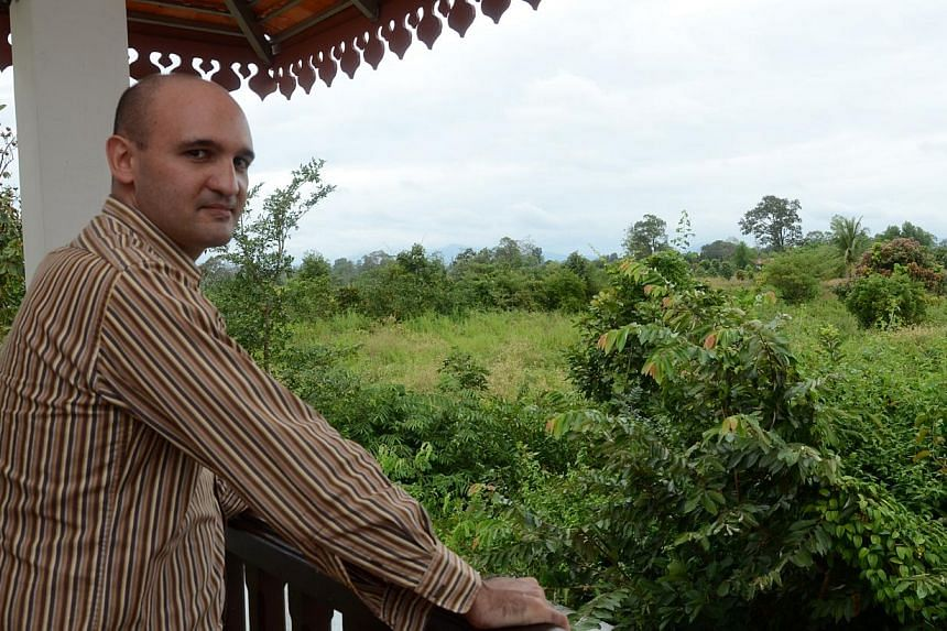 Mr Jean-Philippe Lepage, the general manager of Preah Vihear Boutique Hotel, which is about an hour's drive from Preah Vihear temple at the Thai-Cambodian border. -- ST PHOTO: TAN HUI YEE