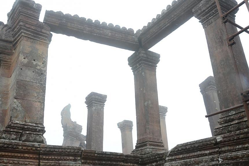 Some parts of the Preah Vihear temple complex are in need of repair. -- ST PHOTO: TAN HUI YEE