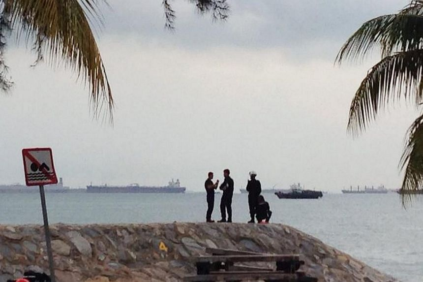 Another search in the sea is being conducted for a man feared to have drowned near East Coast Park just a day after a male student went missing in the waters off Changi.  -- ST PHOTO: ASHLEIGH SIM