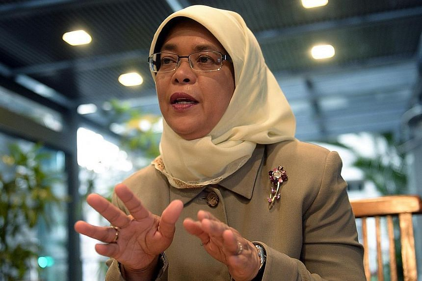 Some 140 third-year students from Ngee Ann Polytechnic were given insights into the personal and professional life of Speaker of Parliament Halimah Yacob at a sharing and dialogue session, on Monday, Nov 25, 2013. -- ST FILE PHOTO:  RAJ NAD