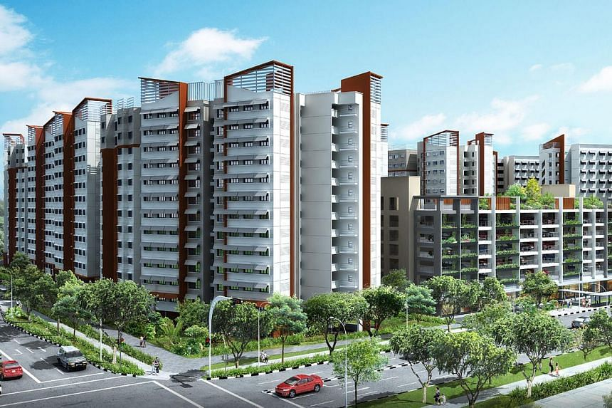 Artist's impression of Admiralty Grove. The Housing Development Board (HDB) announced the launch of 8,952 flats for sale on Nov 26, 2013, in the largest joint Build-To-Order and Sale of Balance Flats exercise so far. -- PHOTO: HOUSING DEVELOPMENT BOA
