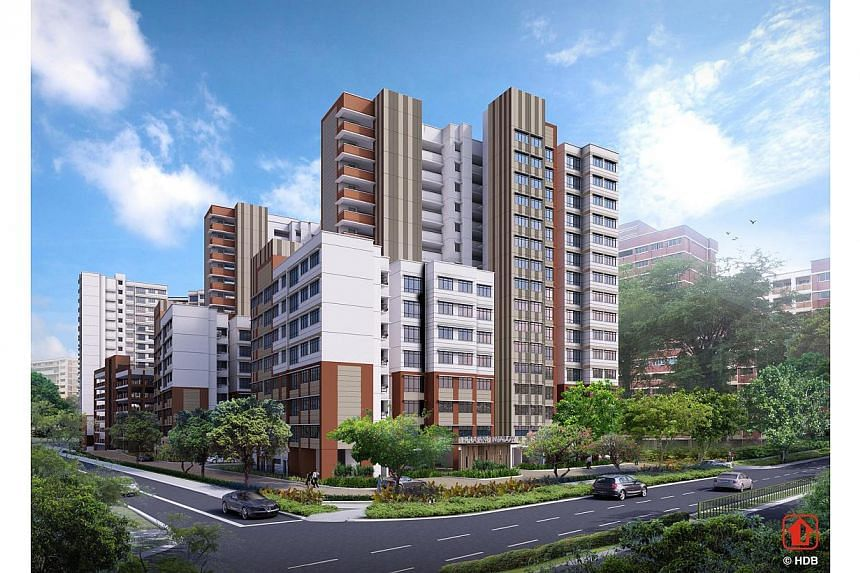 Artist's impression of Hougang Meadow. The Housing Development Board (HDB) announced the launch of 8,952 flats for sale on Nov 26, 2013, in the largest joint Build-To-Order and Sale of Balance Flats exercise so far. -- PHOTO: HOUSING DEVELOPMENT BOAR