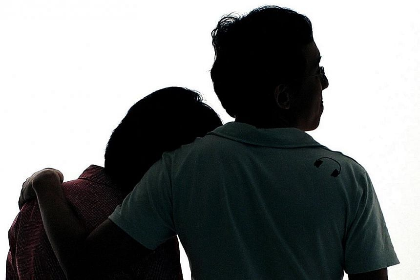 Posed photo of a woman putting her head on a man's shoulder.Men most often regret not having sex with more people while women frequently regret having sex with the wrong partner, according to a recently released study.-- ST FILE PHOTO:&nb