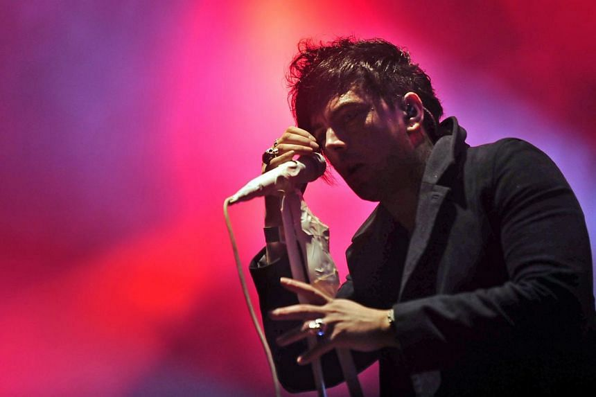 Ian Watkins, singer and songwriter of Welsh rock band Lostprophets performs on the Rock Metal stage of the Sziget (Island) Festival on 'Hajogyar' (Shipyard) Island in Budapest on Aug 13, 2011. Watkins pleaded guilty on Tuesday to the attempted rape o