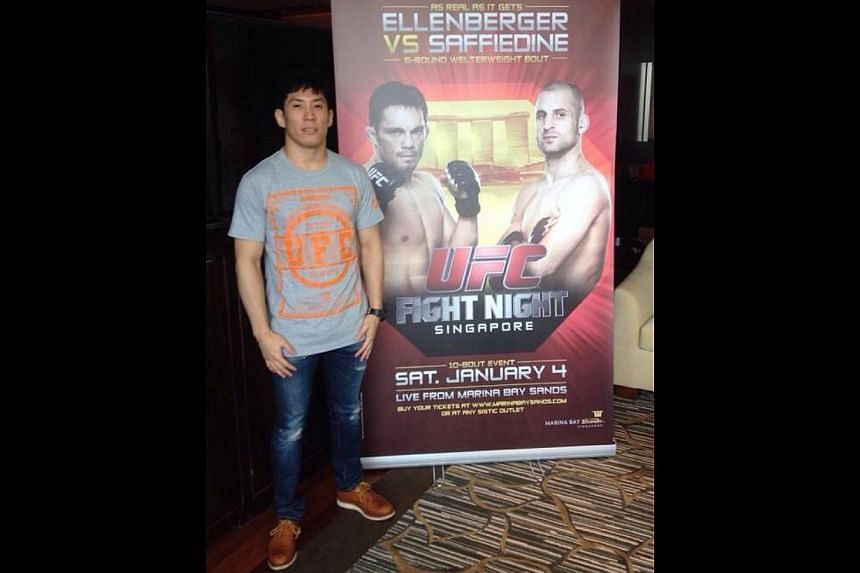 MIXED martial arts (MMA) coach and fighter Royston Wee will be the first Singaporean to compete in the Ultimate Fighting Championship's (UFC) inaugural show in Southeast Asia on Jan 4. --ST PHOTO: CHUA SIANG YEE