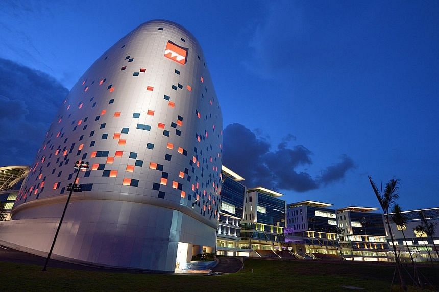 The exterior of the Institute of Technical Education (ITE) college central in Ang Mo Kio. ITE plans to review its internship framework with a view of enhancing and expanding the programme for students. -- ST FILE PHOTO: KUA CHEE SIONG