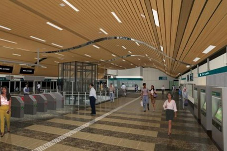 An artist's impression of the interior of the new Napier Station. -- PHOTO: LAND TRANSPORT AUTHORITY
