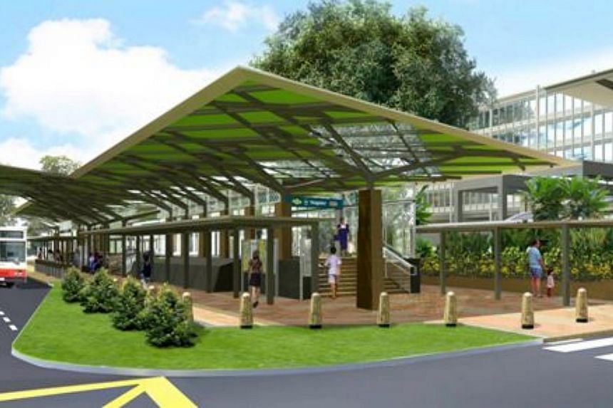 An artist's impression of the entrance of the new Napier Station. -- PHOTO: LAND TRANSPORT AUTHORITY