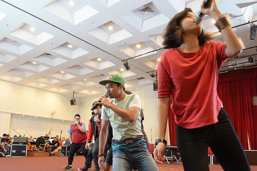 Award winning TAG, also known as The Acappella Group from ITE, has wowed audiences over with their harmony and zest.-- ST PHOTO:DESMOND WEE