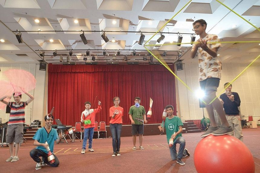 ChildAid performers having rehearsals at Media Centre auditorium Genting Lane on Saturday, Nov 30, 2013. -- ST PHOTO: DESMOND WEE