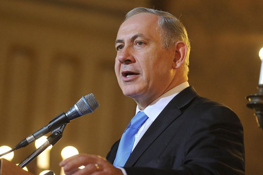 Israeli Prime Minister Benjamin Netanyahu (above) has restated his firm opposition to a nuclear deal with Iran during a visit to Rome in which he was set to meet Pope Francis and Prime Minister Enrico Letta on Monday, Dec 2, 2013. -- PHOTO: AFP
