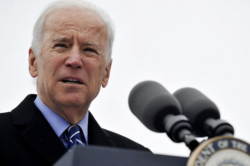 Vice-President Joe Biden speaks during a ceremony celebrating the beginning of construction of the first domestic violence shelter in more than a decade in Chicago, Monday on Nov 25, 2013. Mr Biden headed to Asia amid heightened tensions over China's