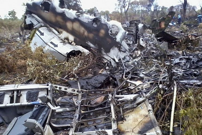 This Saturday, Nov 30, 2013 photo, shows remains of parts of a Mozambique Airlines plane which crashed in the Bwabwata National Park, Namibia. -- FILE PHOTO: AP
