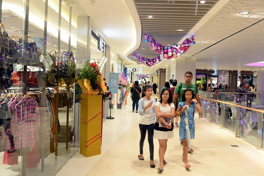 New shopping centre Bedok Mall opened its doors to the public on Tuesday, Dec 3, 2013, with all 200 shops fully leased. -- ST PHOTO:AZIZ HUSSIN