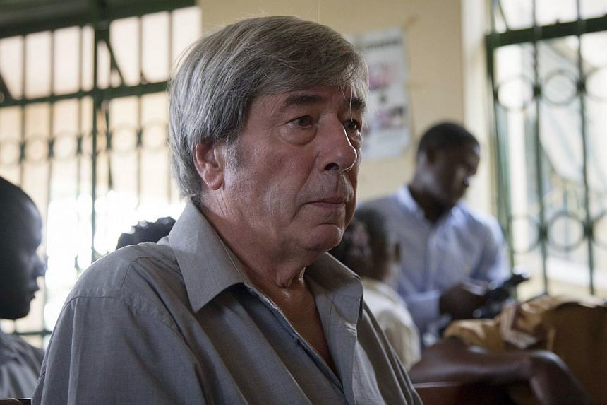 Bernard Randall (above), 65, pleaded not guilty at his initial hearing in October to the charges, which were brought after his laptop was stolen and films on the computer were handed to a Ugandan tabloid newspaper. -- FILE PHOTO: AP