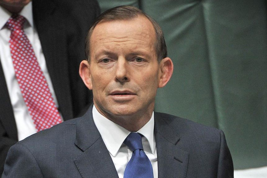 Australian Prime Minister Tony Abbott in the Australian Parliament on Nov 21, 2013. Mr Abbott on Wednesday defended intelligence raids on the offices of a lawyer representing East Timor in a spying case against Canberra, saying they were necessary fo