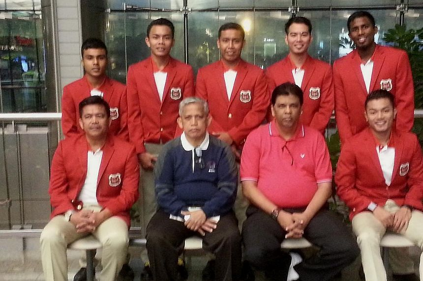 Singapore's 6 man sepak takraw team left for Myanmar, on Monday, Dec 2, 2013, for SEA Games. Singapore's sepak takraw players kicked off the nation's SEA Games campaign on Wednesday, Dec 4, 2013, albeit in chinlone - a traditional sport of the h