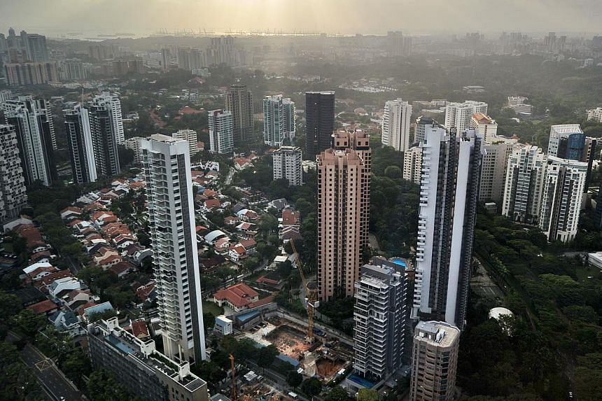 The private home resale market weakened yet again in November, with prices falling to their lowest point so far this year. -- ST FILE PHOTO: ALPHONSUS CHERN