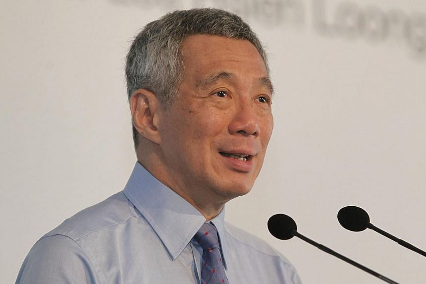 Prime Minister Lee Hsien Loong gives his opening address at the opening ceremony of Sembmarine's integrated yard at Tuas Boulevard on Nov 6, 2013. The People's Action Party will adopt a major resolution statement that will chart its broad direct