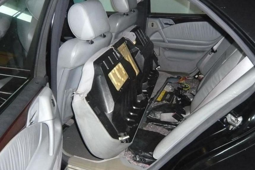 Duty-unpaid cigarettes were found hidden in compartments of the Singapore-registered car on Nov 27, 2013. Singapore Customs officers seized more than 17,600 cartons of contraband cigarettes worth more than $1.6 million in the authority's second large