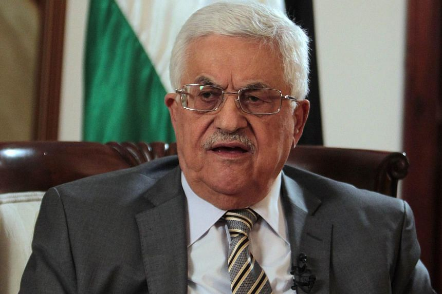 """Palestinian President Mahmud Abbas: """"The Palestinian people will never forget his historic statement that the South African revolution will not have achieved its goals as long as the Palestinians are not free.""""-- FILE PHOTO: AFP"""