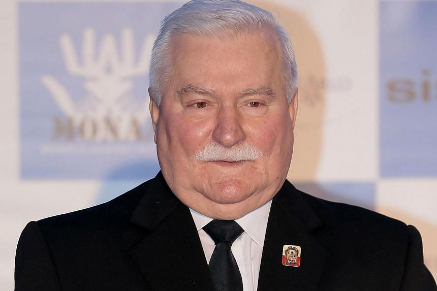 """Poland's Solidarity leader and former President Lech Walesa: """"A great man has died.""""-- FILE PHOTO: AFP"""