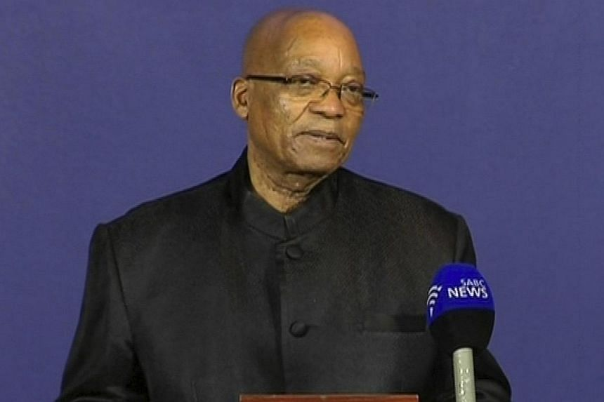 """South African President Jacob Zuma: """"Our nation has lost its greatest son. Our people have lost a father."""" -- PHOTO: AP"""