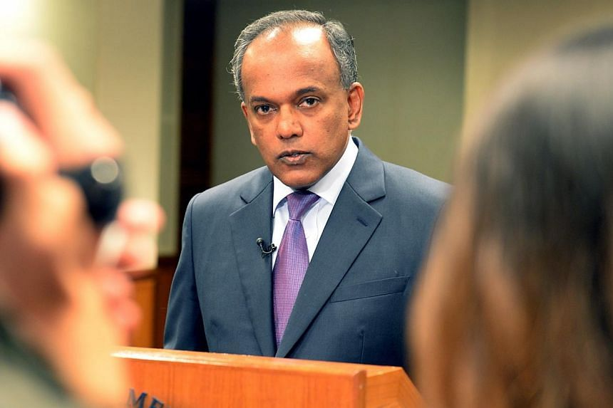 Minister for Foreign Affairs and Minister for Law K Shanmugam. More people accused of non-capital offences will benefit from Government-funded aid, Law Minister K. Shanmugam announced on Friday, Dec 6, 2013.-- ST FILE PHOTO:AZIZ HUSSIN