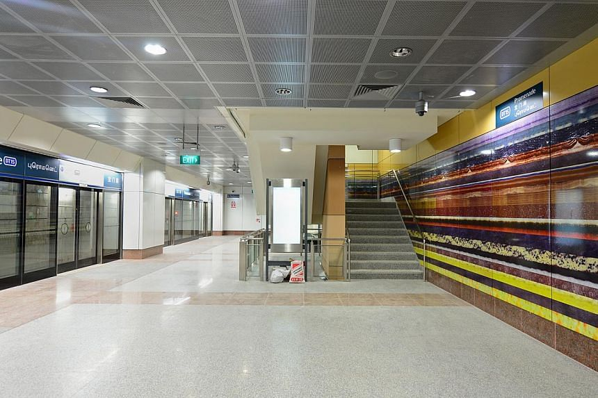 Commuters will be able to travel for free on stage one of the Downtown Line (DTL) when the six-station line opens on Dec 22 up till Jan 1. -- ST FILE PHOTO: NG SOR LUAN