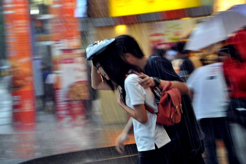 This month could be the wettest December in Singapore in several years. -- ST FILE PHOTO:CHEW SENG KIM