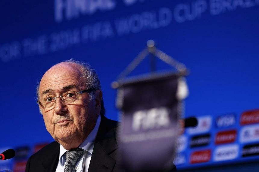 Fifa President Sepp Blatter speaks during a news conference ahead of the 2014 World Cup draw at the Costa do Sauipe resort in Sao Joao da Mata, Bahia state, on Dec 5, 2013. World governing body Fifa on Friday conducted the draw for next year's W