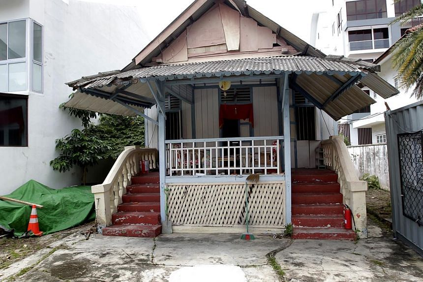 Madam Wan bought this house in Carpmael Road 76 years ago. She died without leaving a will. The house was sold earlier this year, and the trustee of her estate is trying to track down her descendants to distribute the proceeds. -- ST PHOTO: CHEW SENG