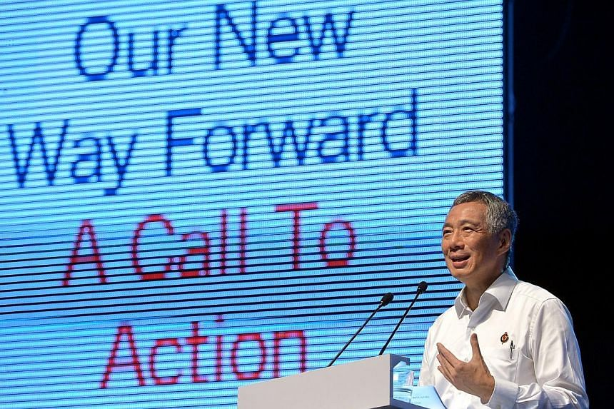 PM Lee Hsien Loong delivering his speech at the PAP Party Convention 2013 held at the Kallang Theatre, on Sunday, Dec 8, 2013.The People's Action Party (PAP) on Sunday resolved to uphold an open and compassionate meritocracy, and build a fair a