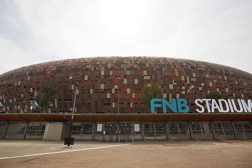 The FNB stadium, where the memorial service for Nelson Mandela will take place, is seen in Johannesburg, South Africa on Monday, Dec 9, 2013. -- PHOTO: AP