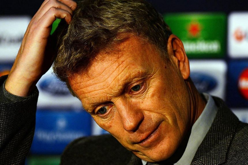 Manchester United's Scottish manager David Moyes attends a press conference at Old Trafford in Manchester, north west England on Dec 9, 2013 ahead of the Uefa Champions League football match between Manchester United and Shaktar Donetsk on Dec 10. --