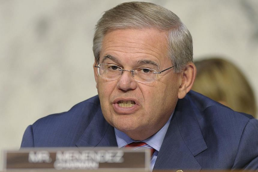 Senator Robert Menendez. speaks at Capitol Hill in Washington on Sept 4, 2013.Two US senators are preparing legislation to impose new sanctions on Iran in six months if an interim deal on the Islamic Republic's nuclear program me goes nowhere,