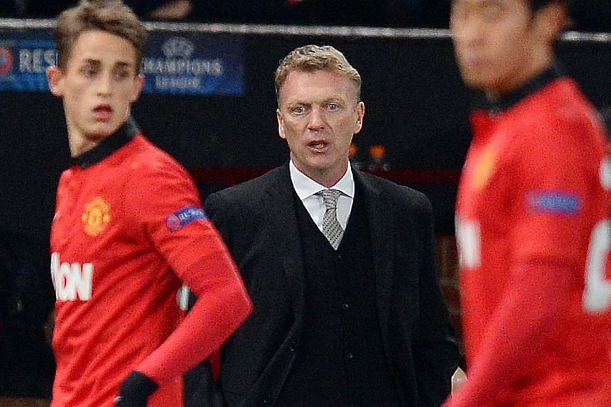 Manchester United manager David Moyes at the Champions League football match between Manchester United and Shakhtar Donetsk at Old Trafford in Manchester on Tuesday, Dec 10, 2013. Moyes says that his team need to sharpen up their act before they can