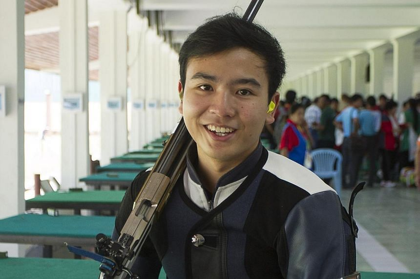Singapore snared a bronze medal in Yangon on Wednesday, when shooter Abel Lim clinched an individual bronze in the 50m rifle prone event. -- PHOTO: SINGAPORE SPORTS COUNCIL
