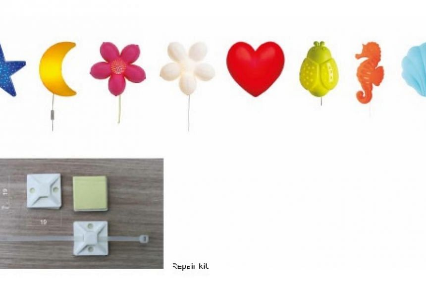 Ikea Singapore is urging customers who have bought wall-mounted lamps from its store to keep the lamp and cord out of reach of children and to fasten it securely to the wall.Customers can visit the Ikea stores or call 6786-6868 to receive a rep