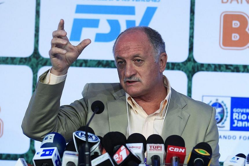 Brazilian national soccer team coach Luiz Felipe Scolari speaks during the 10th edition of Footecon, an international soccer forum, in Rio de Janeiro on Dec 11, 2013.Brazil coach Luiz Felipe Scolari said on Wednesday, Dec 11, 2013, his charges