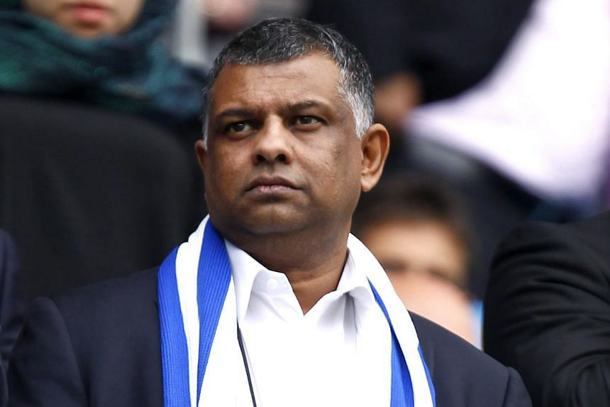 """Mr Tony Fernandes at a Barclays Premier League match between Manchester City and Queens Park Rangers (QPR) on May 13, 2012. Mr Fernandes remarked that,""""Loftus Road is - and always will be - a special place for the club and our supporters but we"""