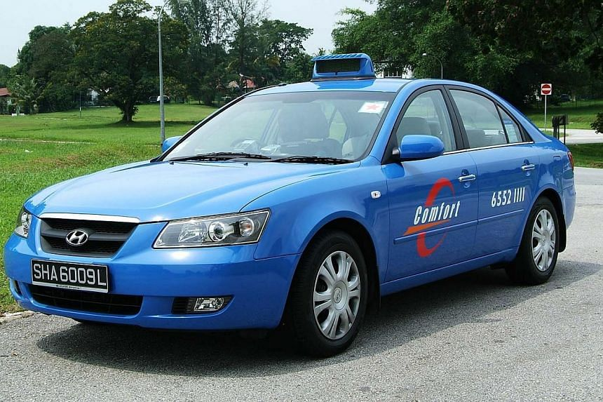 A ComfortDelGroHyundai Sonata taxi. All 16,600 ComfortDelGro taxis will be installed with in-vehicle cameras over the next three months from next Monday, as an added safety and security measure, said the public transport operator on Friday.&nbs