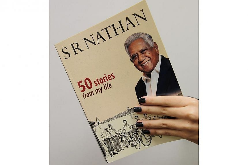 50 Stories From My Life, a book of personal anecdotes and tales from former president SR Nathan's front-row view of history, is one of Singapore's most popular books. -- FILE PHOTO: EDN